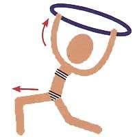 Упражнения с хулахупом