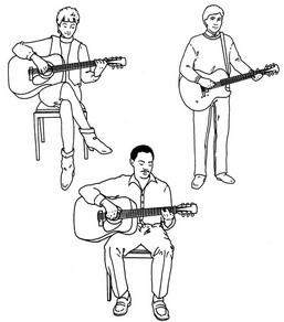 как держать гитару